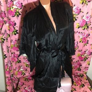 Victoria Secret silk kimono robe black vanity sexy